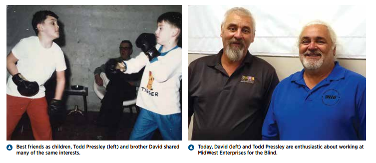 Dave and Todd as Kids and Adults