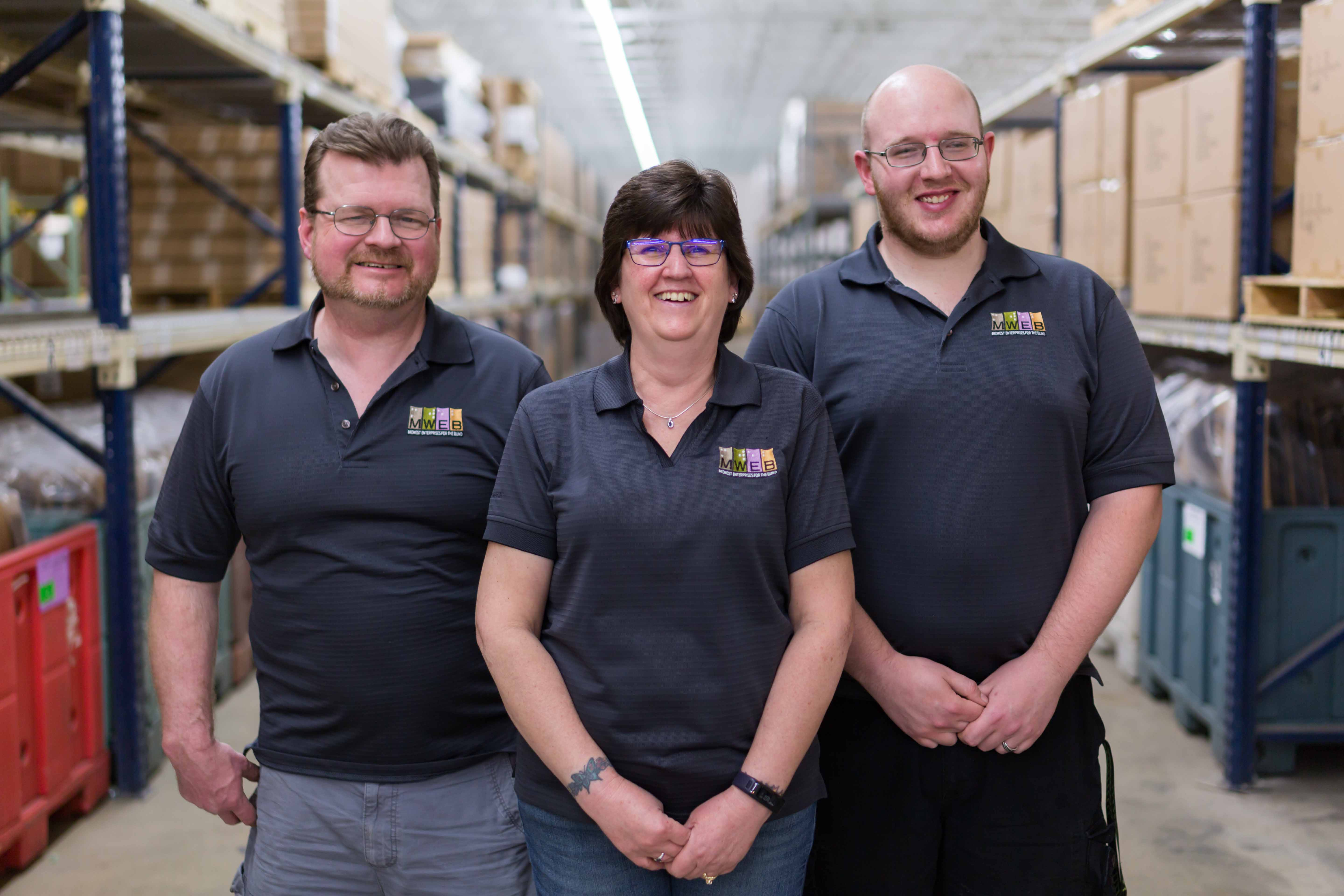 Mark, Jackie, R.J. - Warehouse and Shipping Team